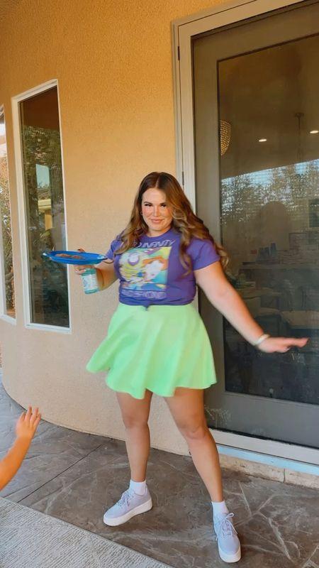 buzz lightyear women's outfit! wearing size xxl in tee and skirt!   #LTKunder50 #LTKSeasonal #LTKcurves