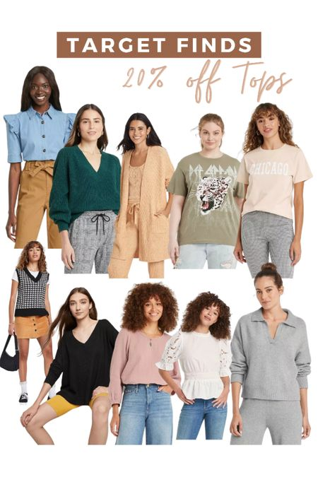 Target finds for fall! All of these tops are 20% off right now  #LTKstyletip #LTKsalealert #LTKunder50
