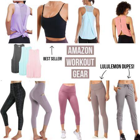Amazon Workout Gear- Lululemon dupes/bestsellers!  #amazon #amazonfinds #founditonamazon #workout #fitness #dupe #dupes #amazonstyle #amazonfashion #lululemon #tank #fit #trending #ltktrend #fitspo #gym #gymwear #leggings #wfh #workfromhome #LTKunder50 #LTKfit #LTKstyletip #liketkit @liketoknow.it http://liketk.it/2R1tI