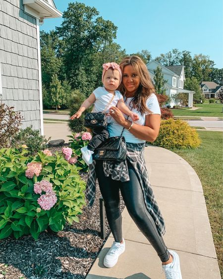 Mommy and me fashion. Fall outfits. Spanx faux leather leggings. Toddler girl fashion. Matching family. Family matching. Target style. Amazon finds. Baby girl outfit.   #LTKfamily #LTKbaby #LTKkids