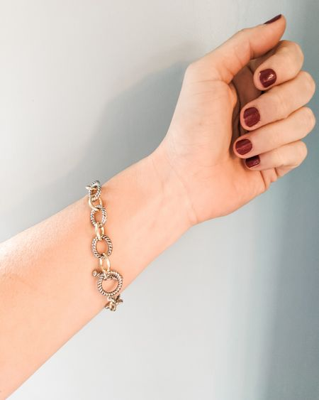 Loving the chunky bracelet trend and this mixed metal one is only $10!! Check out some of my other fav accessories right now. 😍   http://liketk.it/2KsAU @liketoknow.it #liketkit #LTKsalealert #LTKstyletip #LTKunder50 #LTKunder100 Download the LIKEtoKNOW.it app to shop this pic via screenshot follow FigAndRoses 💋