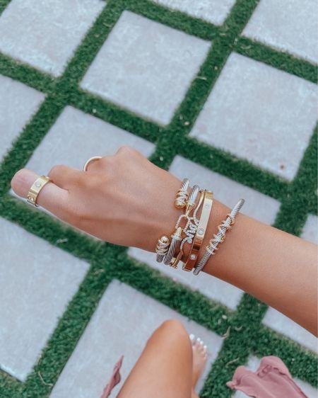 http://liketk.it/3hwSy #liketkit @liketoknow.it ltk sale alert, LTK SALE, Emily Ann Gemma Jewelry, David Yurman Dupe bracelet, Cartier love bracelet Dupe, gold bracelet, best jewelry summer 2021, bracelet stack, affordable jewelry