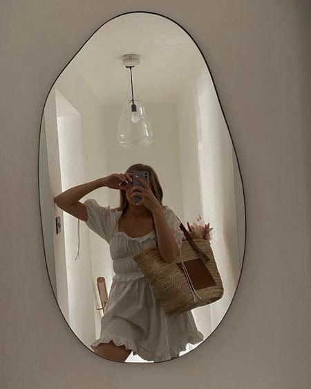 White summer dress, amazon find, mini dress, basket bag, Loewe , amazon fashion @liketoknow.it #liketkit http://liketk.it/3lNMa #LTKeurope #LTKunder50 #LTKstyletip