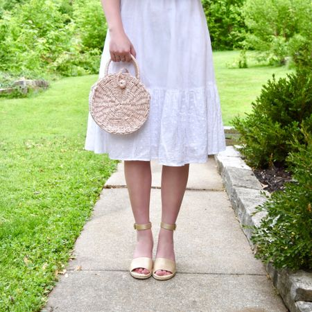 All about those summer whites! 💕 I've been loving my recent purchases from @walmart! This gorgeous off-the-shoulder eyelet dress and handbag are both under $37 and my shoes come in so many different color options! 😍 Don't you just love summer fashion?! #sponsored #WeDressAmerica #WalmartFashion . . . You can easily shop my look from the LTK app (username: TheChambrayBunny) @liketoknow.it http://liketk.it/2Cs9Z #liketkit #LTKunder50 #LTKunder100