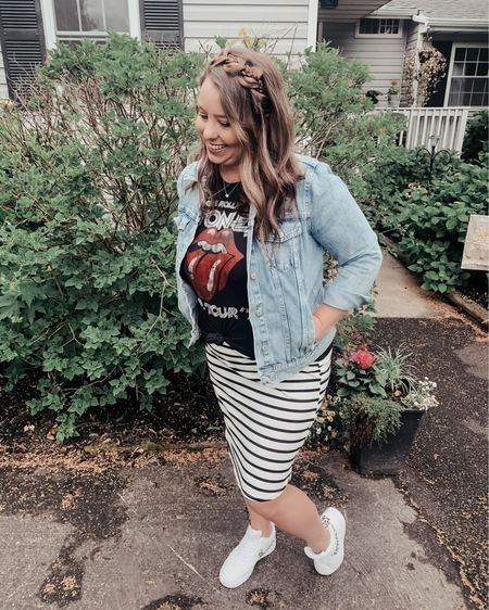 A few weeks ago I shared this awesome striped skirt from Amazon.  This time I decided to dress it down with some sneakers and a graphic tee.   http://liketk.it/3g5vD #liketkit #LTKsalealert #LTKshoecrush #LTKstyletip @liketoknow.it Shop your screenshot of this pic with the LIKEtoKNOW.it shopping app