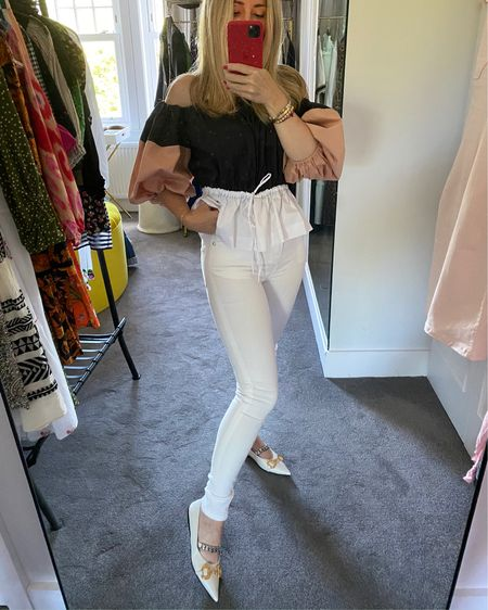 Team Rizzo Jean from Donna Ida with a statement top and flats and keep the jeans ankle length for as many leg lengthening inches as possible. Or, if you are short like me bunch them at the ankle. http://liketk.it/2Tp76 #liketkit @liketoknow.it