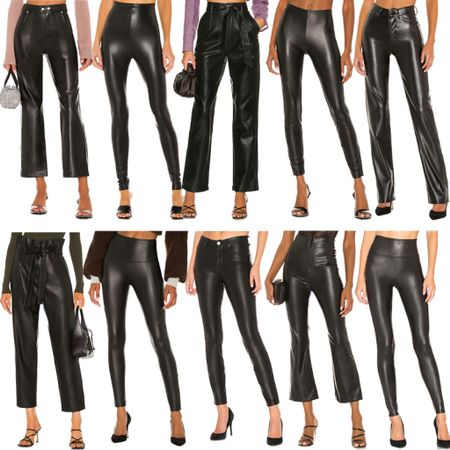 'Tis the season! Sharing our favorite faux leather leggings and pant styles for fall/winter 🖤    #tssedited #thestylescribe #leather #leggings #bottoms #vegan #pants #leatherpants  #LTKSeasonal
