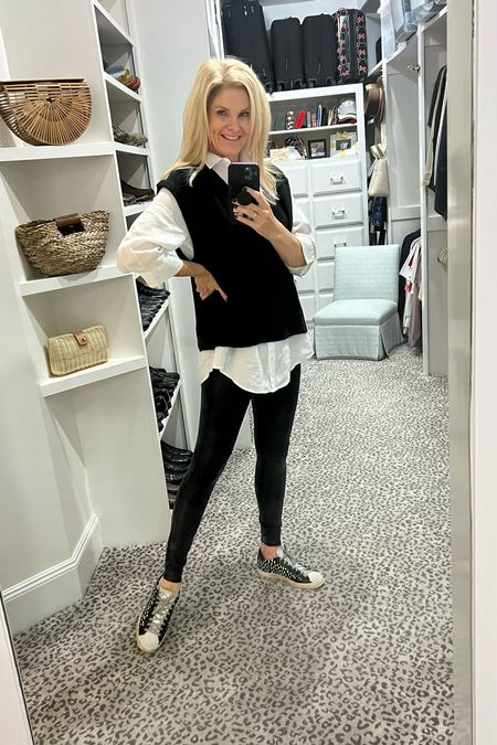 All the fall vibes! Size 0.5 top, L leggings and S sweater   #LTKunder100 #LTKSeasonal #LTKstyletip