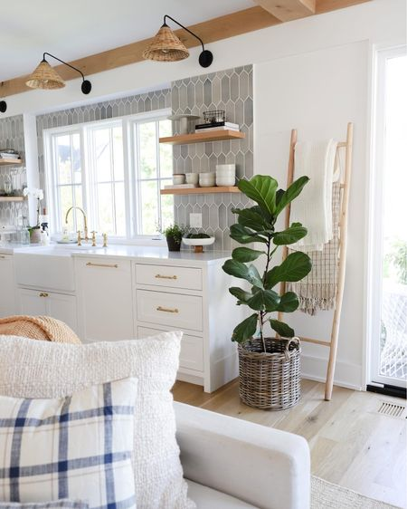 Coastal kitchen fall styling 🤍  #LTKhome