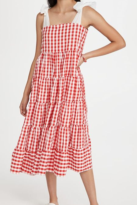 Cute red and white gingham dress for 4th of July! Would be great for a maternity option too! @liketoknow.it #liketkit http://liketk.it/3h6Ha #LTKbump
