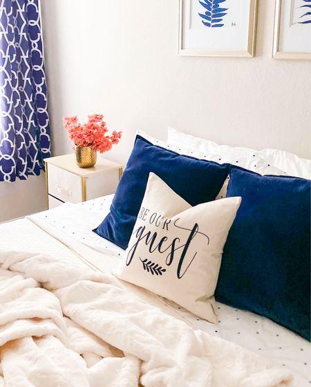 Guest bedroom decor and finds          Amazon home, amazon finds, holiday guest , throw pillow , pillow cover , #ltkunder50 #ltksalealert #ltkstyletip #ltkunder100 #ltkfamily , home decor , holiday decor , throw blanket   #LTKhome #LTKSeasonal #LTKHoliday