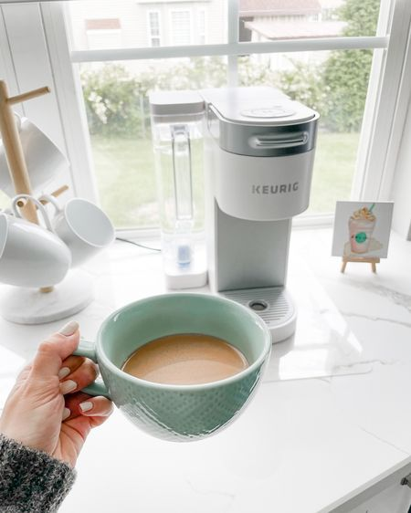 """Cheers, ladies! I love Tuesdays because we get to sneak in a little extra family time, but today is also Prime Day!! Who could ask for more? I mean, let's face facts, with a newborn almost every day is Prime Day…but I digress 😂…I'm sharing all my faves, including this Keurig (available in black for $49), and what's in my cart over on the blog. Check them out HERE or via link in bio by clicking """"shop my Instagram"""" and this pic.   Highlights: Tula eye balms and other products - 25% off  Frida Mom Peri Bottle - $11 - MUST HAVE for a new mom  Rug Grips - 30% off - my runners never move thanks fo these 🙌🏼     http://liketk.it/3icTp #liketkit @liketoknow.it"""