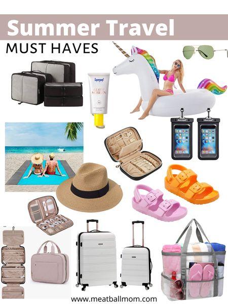 Summer travel must haves       Travel must haves , travel organizers , family travel , summer travel , beach vacation , packing cubes , pool float , jewelry case , luggage set , suitcases , beach bag , beach hat , kids shoes , sandals , sunscreen , supergoop , amazon home , amazon finds , target finds , target style #ltkseasonal #ltkkids #ltkswim #ltkshoecrush   #LTKfamily #LTKunder50 #LTKtravel