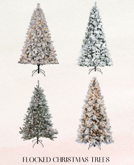 Flocked Christmas Trees on sale at Target  #LTKsalealert #LTKSeasonal #LTKHoliday