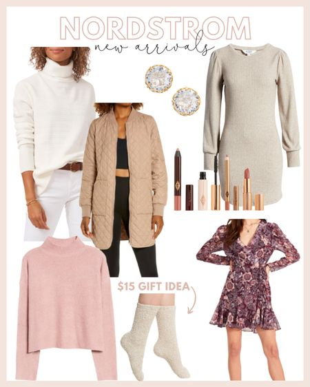 Nordstrom new arrivals roundup! Loving the floral dress and rubbed sweater dress for fall! Also added a few great gift ideas under $50.  #LTKunder100 #LTKunder50 #LTKstyletip