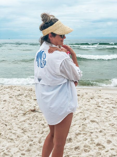 If it's not moving, monogram it!   Love my monogrammed PFG cover up for any occasion that involves lots of sun ☀️ + water 💦   Had this one since my wedding and it's still in great condition. I love all things monogrammed for wedding and bachelorette gift related. #giftideas #monogramit #personalizedgifts #monogram #weddinggifts #bachelorette #bachelorettegifts   #LTKSeasonal #LTKunder100 #LTKunder50