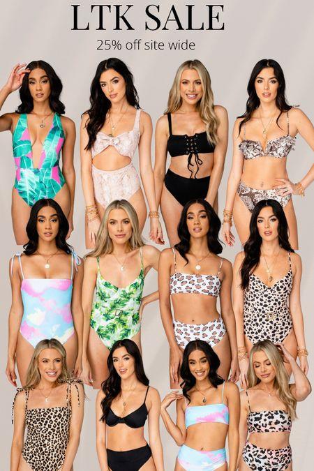 Swim sale  Bikini  Leopard print Vacation   #LTKDay #LTKtravel #LTKSeasonal