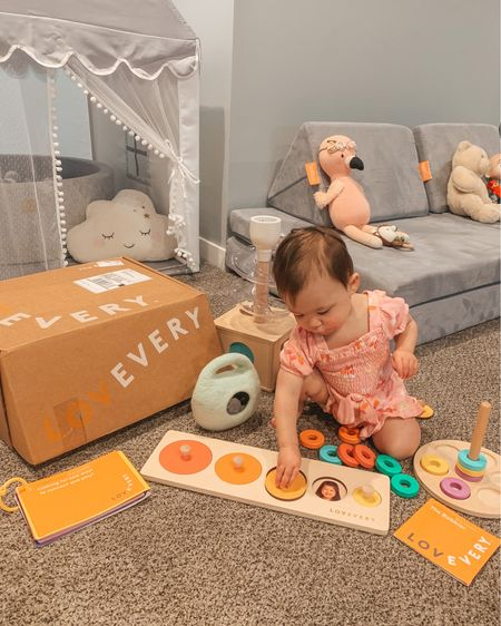 Lovevery Playkit for months 13, 14 and 15. Montessori toys. Playroom. Playkits. Toddler activities. Toddler toys. Baby toys. Baby girl. #14monthsold   #LTKfamily #LTKkids #LTKbaby