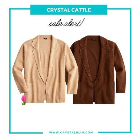 I wear this cardigan jacket none stop and it's on sale. The tan is #hocspring and the brown might be too but I haven't seen it in person. #houseofcolour.