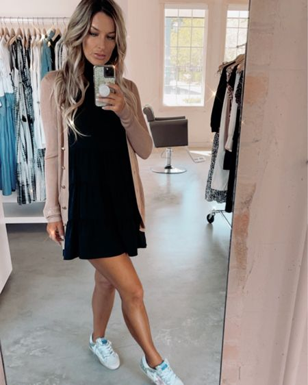 Casual style with sleeveless t shirt dress and long cardigan #everydaystyle #ootd #ltkdaily http://liketk.it/3hlT5 #liketkit @liketoknow.it #LTKDay #LTKunder100 #LTKstyletip Shop your screenshot of this pic with the LIKEtoKNOW.it shopping app