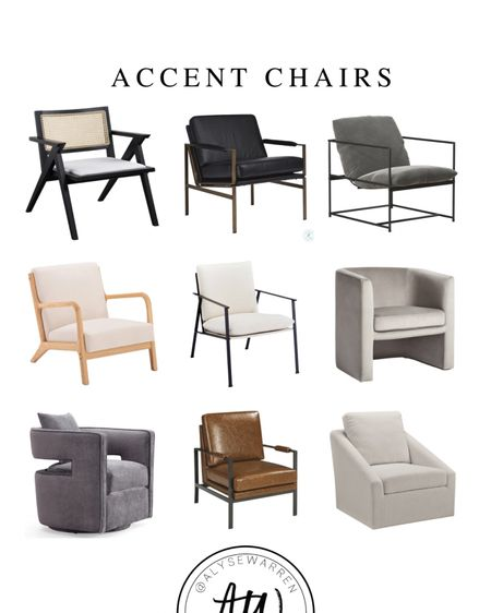 Accent chairs for your living room or bedroom!  Came back chair, leather chair, sherpa chair, sling chair, velvet chair, couch, sofa, ottoman, coffee table, home decor, transitional home, furniture, Studio McGee at Target    #LTKhome
