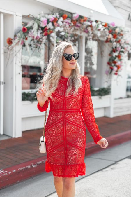 http://liketk.it/30O9S Introducing the red lace cocktail dress you need for this holiday season! This would be so fab as fall wedding guest dresses or even for Christmas family photos 😍❤️ linked a few options at different price points. This cocktail dress will for sure be on major repeat this holiday season for me! It runs tts too! Linked a dupe from amazon fashion for my ysl heart eye sunglasses that are only $9! Also a few different white designer Gucci crossbody bags and more affordable white bags too! http://liketk.it/2FIxc #liketkit @liketoknow.it #LTKunder50 #LTKunder100 #LTKstyletip #LTKshoecrush #LTKwedding #LTKitbag