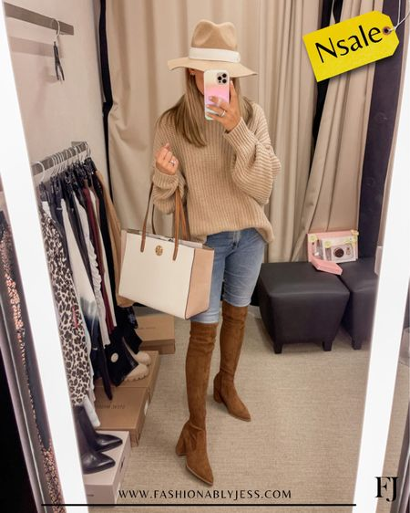 My boots are still in stock! Can't wait to wear these this fall  #nsale Knee high boots Fall outfit   #LTKshoecrush #LTKstyletip #LTKsalealert