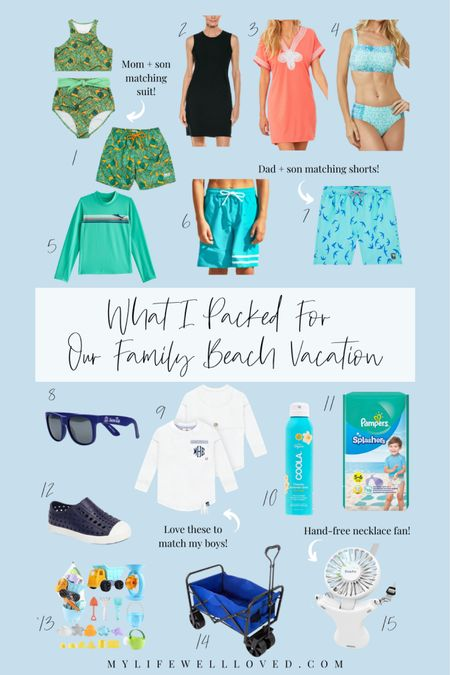 Vacation Outfits ⭐️ // What I am packing for our famil beach vacation! Cute swimsuits for the family // Use code MLWL15 for 15% off all SwimZip items! http://liketk.it/3eXHM #liketkit @liketoknow.it #LTKfamily #LTKswim #LTKtravel