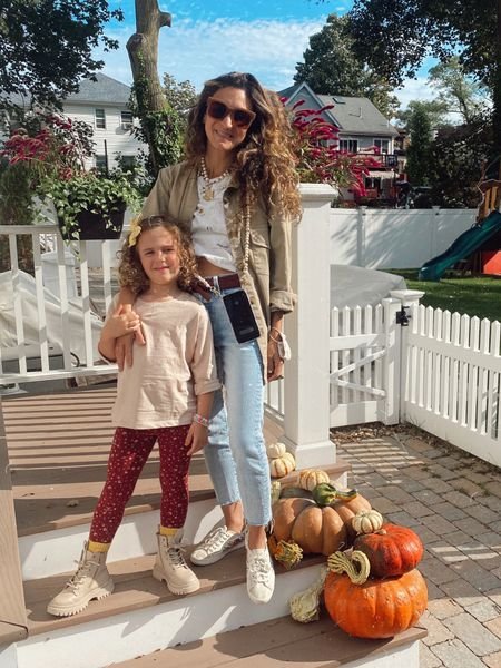 Fall Saturday fits' 💥 I'm wearing one size down from my usual size in these jeans ❤️   #LTKfamily #LTKkids #LTKSeasonal
