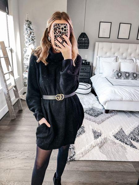 Amazon sweater dress! Date night outfit idea!   #LTKsalealert #LTKSeasonal #LTKHoliday