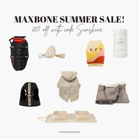 Maxbone summer sale!!! 20% off everything with code SUNSHINE!   Summer essentials for the fashionable dog.     🛍 Screenshot this pic to get shoppable product details with the LIKEtoKNOW.it shopping app    http://liketk.it/3iGKe #liketkit @liketoknow.it #LTKfamily #LTKsalealert #LTKstyletip