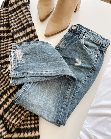 These BlankNYC straight leg jeans are incredible for the price. They fit slightly snug. They're restocking on and off, so add them to your Wish List for a notification!   I linked a similar distressed pair included in the sale and another option under $100, in case you love this style but can't snag them in time! #nsalejeans #distressedjeans #nordstromsalejeans