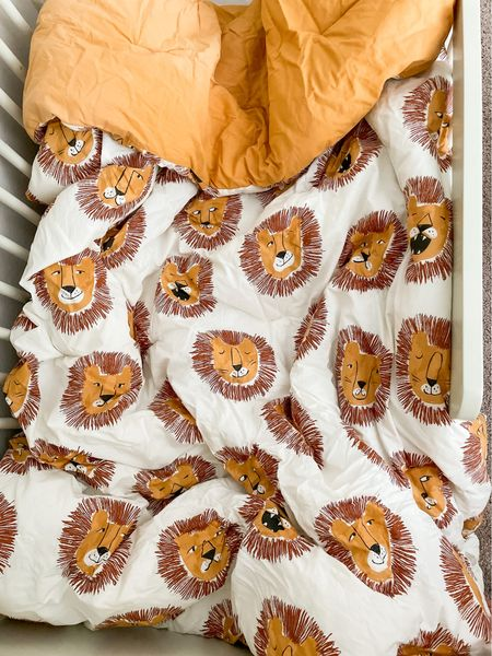 My toddler picked out a new comforter for his new toddler bed! Twin size lion bedding by Pillowfort from Target. This set includes 1 comforter and 1 pillow sham. Machine washable/dryer friendly.  #LTKunder50 #LTKkids #LTKhome