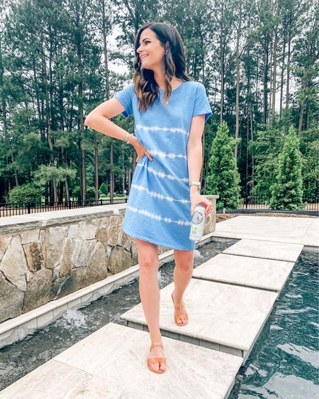 Hope everyone has enjoyed this wonderful long weekend 🇺🇸 Spending this Memorial Day poolside! Firing up the grill later, drinking some @whiteclaw, and relaxing all day💙 My tie dye t-shirt dress is SO comfy and the length is great! Also only $15! 🙌🏼 Wearing a small! Shop your screenshot of this pic with the LIKEtoKNOW.it shopping app! #liketkit #LTKstyletip #LTKswim #LTKshoecrush #LTKunder20 #mystyleinspo #ootd #weekendvibes #memorialdayweekend #linkinbio #shopthelook #lookoftheday http://liketk.it/2PzkI @liketoknow.it