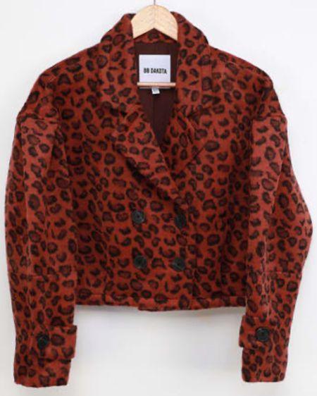 Love this rust orange leopard print coat for fall. http://liketk.it/30fOq #liketkit @liketoknow.it #LTKstyletip