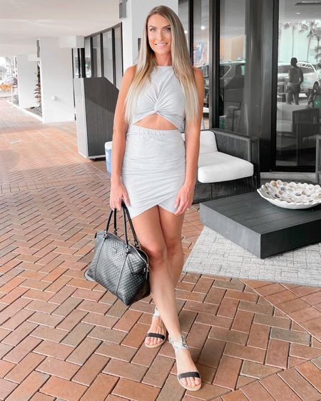 http://liketk.it/3k3rJ #liketkit @liketoknow.it #LTKunder50 #LTKshoecrush #LTKstyletip Amazon finds Amazon fashion summer dress cutout dress dolce vita sandals Gucci bag