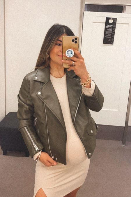 Favorite faux leather jacket from the Nsale! It's inly $59 and it's also available in black!   #LTKunder100 #LTKbump #LTKsalealert