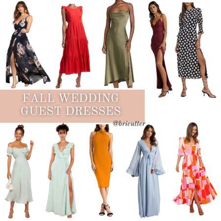 Dresses for all your fall wedding needs!   #LTKstyletip #LTKwedding #LTKSeasonal