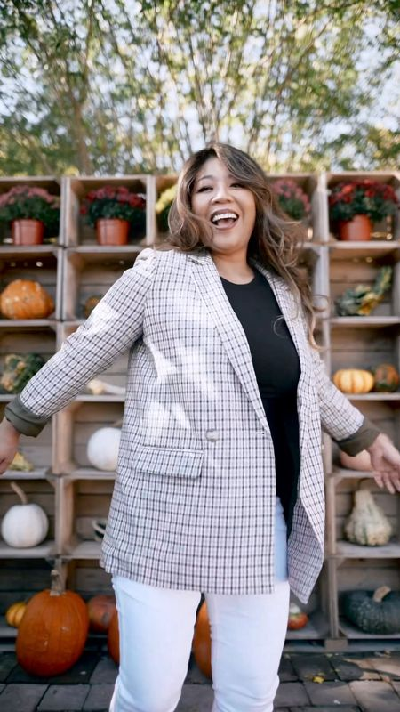 my fave fall outfits from cashmere sweater, wide leg denim, and booties to oversized plaid blazer, white denim, and black loafers. #ltkfall #ltkgiftguide  #LTKSeasonal #LTKshoecrush #LTKstyletip