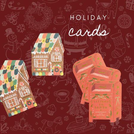 Christmas cards, mail to santa, gingerbread card   #LTKHoliday #LTKSeasonal #LTKhome