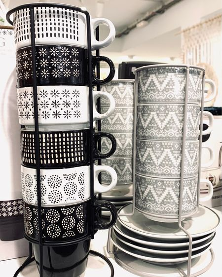 Whether you're a coffee, cappuccino or espresso drinker, one can't resist these adorable mug sets on metal stands to decorate any coffee bar!  http://liketk.it/3frNG #liketkit @liketoknow.it @liketoknow.it.home #LTKhome #LTKunder100 #LTKfamily