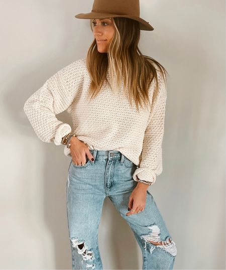 Size xs in this target sweater.  Code JEN20 on these jeans.     #LTKunder50 #LTKsalealert #LTKstyletip