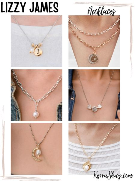 Lizzy James necklaces 🧡 the perfect edition to any necklace and something for every style!   ✨✨✨✨✨✨✨✨  Necklace, necklaces, jewelry, jewelry style, necklaces for summer, trendy jewelry , pendant necklaces  #LTKsalealert #LTKstyletip
