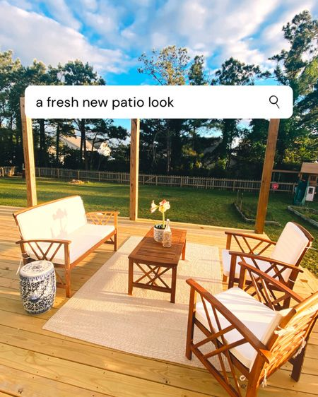 This four piece patio furniture set is only on sale for 24 more hours - normally $1k, now $400! http://liketk.it/3e4aa #liketkit @liketoknow.it #LTKhome #LTKsalealert #patiofurniture