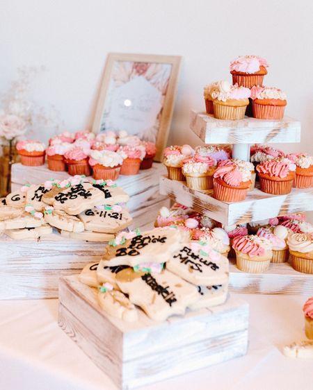 Boho Bridal Shower Cupcake Dessert Display Stands Shelves    http://liketk.it/3cmg3 #liketkit @liketoknow.it @liketoknow.it.brasil @liketoknow.it.europe @liketoknow.it.family @liketoknow.it.home #LTKwedding #LTKhome #LTKfamily