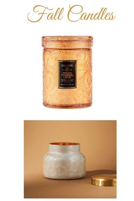 Fall candles, the bottom one is 20% off! Home decor   #LTKhome #LTKSeasonal #LTKunder50