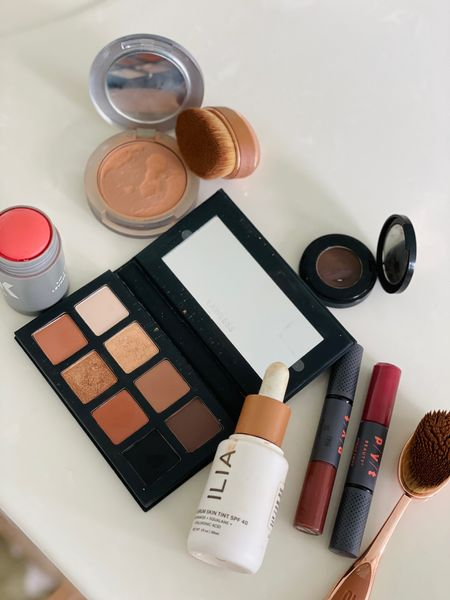 My current clean beauty makeup products  Ilia foundation with spf 40 in the shade Kokkini Milk makeup blush in the shade perk Lawless eye shadow palette  Pur cosmetics foundation powder in the shade medium tan Pyt beauty lipstick in the shades  go getter and rumor  Anastasia eyebrow powder in the shade ebony  Attis brushes    #LTKbacktoschool #LTKbeauty #LTKSeasonal