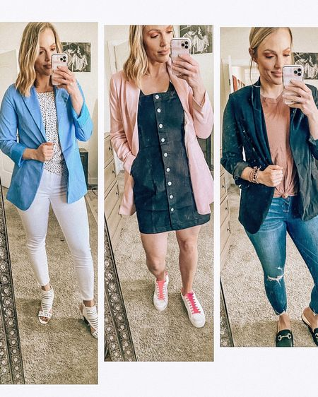 These x3 photo boxes are my new favorite.  Another favorite? Blazers for spring. These three are each under $60 (two are around $35) and I am loving the colors. Not to mention the denim... I haven't really shopped A&F since high school but these pants are amazing.  That middle outfit though? That will be a repeat for me this upcoming season.   http://liketk.it/2KTPn #liketkit @liketoknow.it #LTKspring #LTKstyletip #LTKworkwear #blazerlife #blazeroutfit #h&m #abercrombieandfitch #springstyle #spring2020