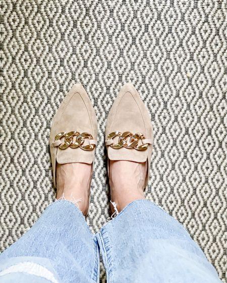 These flats….so comfy!! Jeans are only $51! #nsale #shoesale #ootd #fashion #nsaleshoes #ltksale #ltkunder100 #fallfashion #nudeshoes http://liketk.it/3jROd #liketkit @liketoknow.it