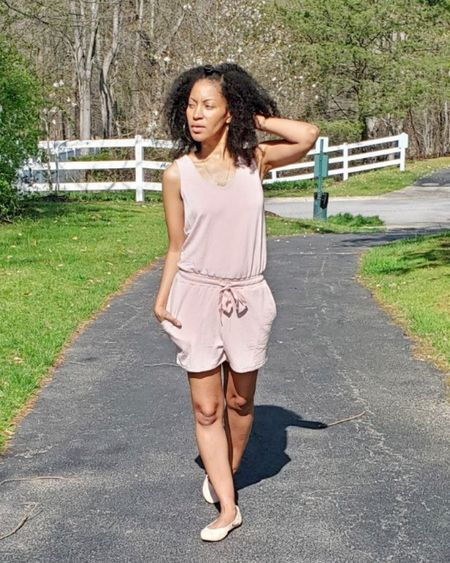☀️ When you walk outside and realize you don't need a jacket and, your terry romper has pockets! (gifted)   Pure bliss.  But, with this weather you never know. I better grab a jacket just in case.   By the way, I think 🤔 I just found the perfect comfy chic outfit for home of on the go. No house dresses here. Well, not today at least. 😏 ————  Screenshot this pic to get shoppable product details with the LIKEtoKNOW.it shopping app    http://liketk.it/3cec8 #liketkit @liketoknow.it #LTKstyletip #LTKunder100